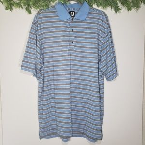 FootJoy FJ Striped Short Sleeve Golf Polo, L